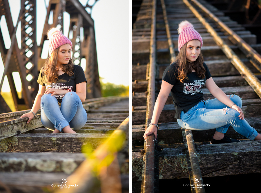 Book quince 15 de Sofi campo vias de tren Gonzalo Acevedo #gonzaloacevedofotografia