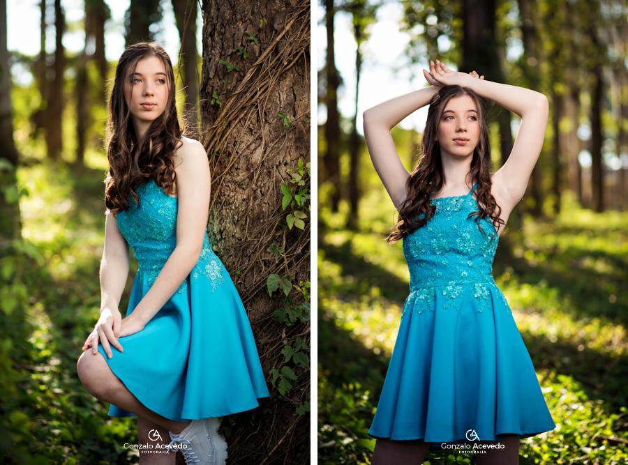book de 15 con vestido en un hermoso bosque Gonzalo Acevedo
