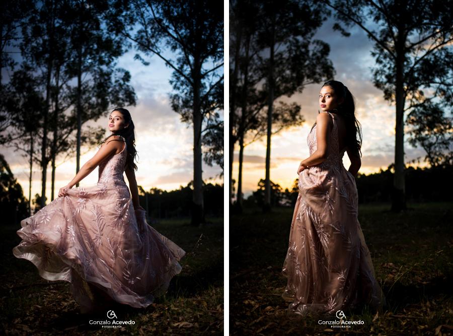 Book de campo al atardecer con vestido elegante #gonzaloacevedofotografia
