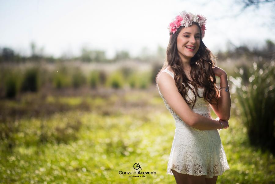 book de 15 con vestido y corona de flores Gonzalo Acevedo