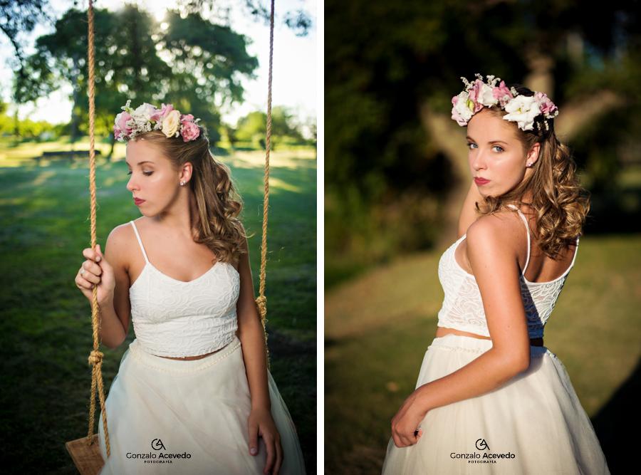 book romantico de campo con vestido y corona de flores Gonzalo Acevedo